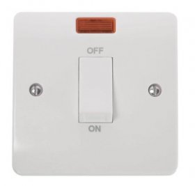 Click Mode 45A 1 Gang Single Cooker Switch with Neon CMA501