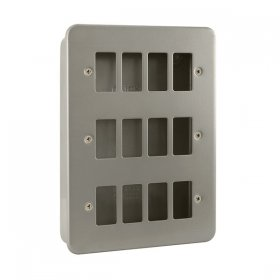 Click Metal Clad 12 Gang Grid Pro Front Plate CL20512