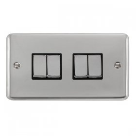 Click Deco Plus 4 Gang 2 Way Ingot Switch DPCH414BK
