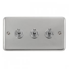 Click Deco Plus 3 Gang 2 Way Toggle Switch DPCH423