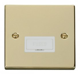 Click Deco Polished Brass Unswitched Fused Spur VPBR650WH
