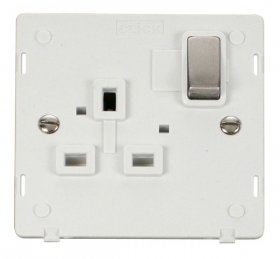 Click Definity 1 Gang Switched Socket Outlet Insert SIN535PWSS