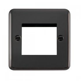 Click Deco Plus 1 Gang Twin Aperture New Media Plate DPBN311