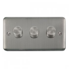 Click Deco Plus DPSS153 3 Gang 2 Way 400Va Dimmer Switch