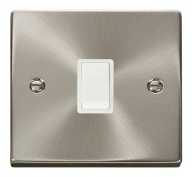 Click Deco Satin Chrome 20A Double Pole Switch VPSC622WH