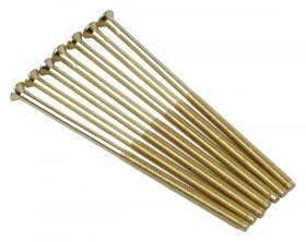"Click SP675BR 3.5x75mm Longer Brass ""Deco"" Fixing Screws"