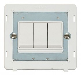 Click Definity 3 Gang 2 Way Switch Insert SIN013PW