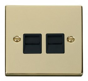 Click Deco Polished Brass Secondary Telephone Point VPBR126BK