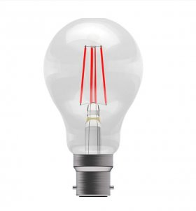 Bell 4W BC LED Red Filament GLS Lamp ­60067