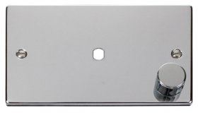 Click Polished Chrome Single Dimmer Plate 1000W Max VPCH185