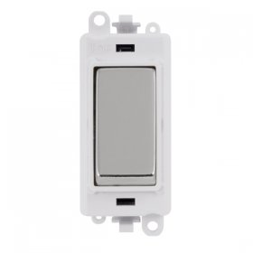 Click Grid Pro GM2004PW 2 Way Retractive Switch Module White