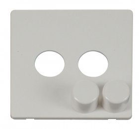 Click Definity 2 Gang Dimmer Switch Cover Plate & Knobs SCP242PW