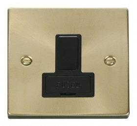 Click Deco Satin Brass Switched Fused Spur VPSB651BK