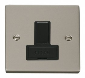 Click Deco Pearl Nickel Switched Fused Spur VPPN651BK