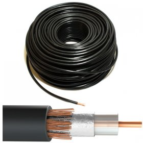 CT100 Coaxial Cable Black 100 Meter Drum