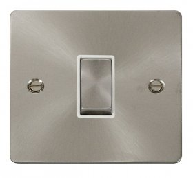 Click Define Brushed Steel Intermediate Switch FPBS425WH