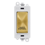 Click Grid Pro GM2018PWSB-WD Mod Wh Satin Brass Waste Disposal
