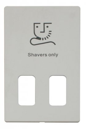 Click Definity Dual Voltage Shaver Socket Cover Plate SCP100PW