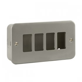 Click Metal Clad 4 Gang Grid Pro Front Plate CL20404