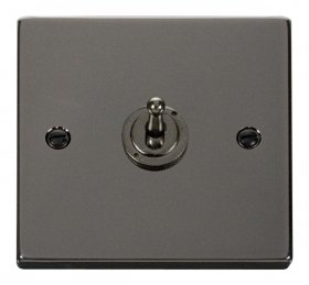 Click Deco Black Nickel 1 Gang 2 Way Toggle Switch VPBN421