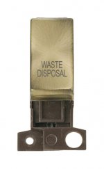 Click MiniGrid MD018ABWD Antique Brass DP Waste Disposal Module