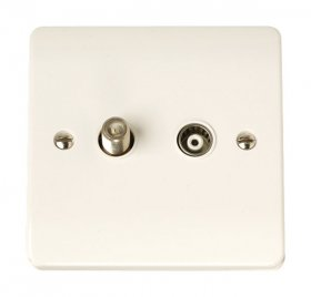 Click Curva CCA157 Isolated Satellite & Coaxial Plate
