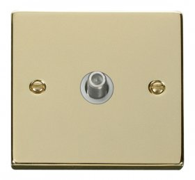 Click Deco Polished Brass Non-Isolated Sat Socket VPBR156WH