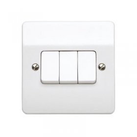 MK Logic Plus K4873WHI 3 Gang 2 Way Switch White