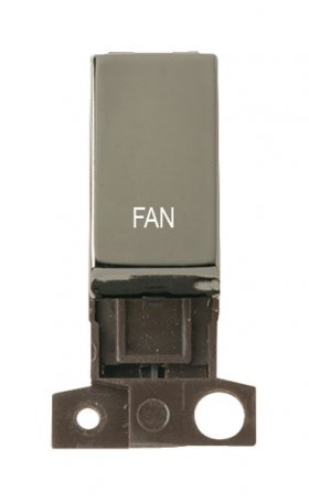 Click MiniGrid MD018BNFN Black Nickel Double Pole Fan Module