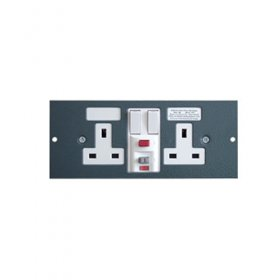 Tass STO300/RCD Twin RCD Socket Plate for TFB3s