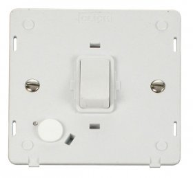 Click Definity 20A DP Switch with Flex Outlet Insert SIN022PW