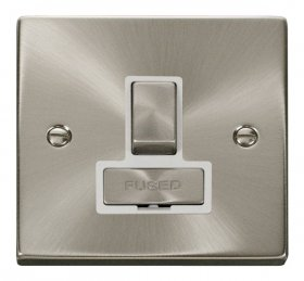 Click Deco Satin Chrome Ingot Switched Fused Spur VPSC751WH