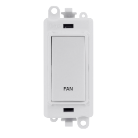 Click Grid Pro GM2018PW-FN Double Pole Switch Module White Fan