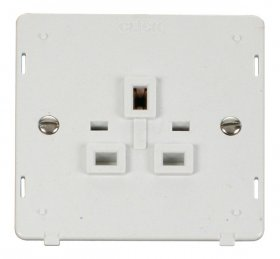 Click Definity 1 Gang Socket Outlet Insert SIN630PW