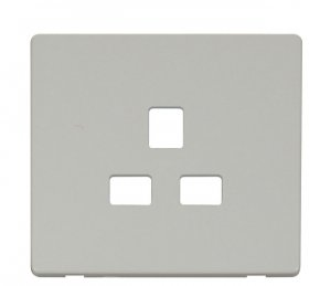 Click Definity 13A 1 Gang Socket Outlet Cover Plate SCP430PW