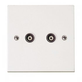 Click Polar Twin Isolated Coaxial Outlet PRW159