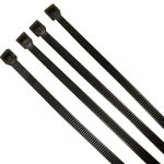 Unicrimp QTB300S 300mm x 4.8mm Black Cable Ties (Pack of 100)