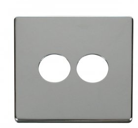 Click Definity 2 Gang Toggle Switch Cover Plate SCP222CH