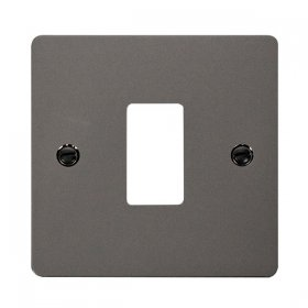 Click Define Black Nickel 1 Gang Grid Pro Front Plate FPBN20401