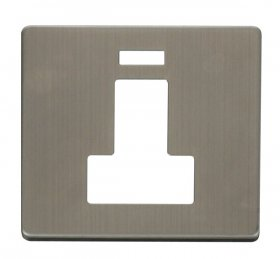 Click Definity 13A Switched Fused Spur Neon Cover Plate SCP252SS