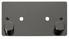 Click Define Black Nickel Twin Dimmer Plate 1630W Max FPBN186