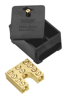 Click 100A 1 Pole Phase Block (Link Box)