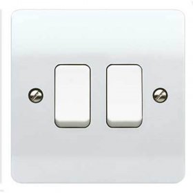 MK Logic Plus K4872WHI 2 Gang 2 Way Switch White