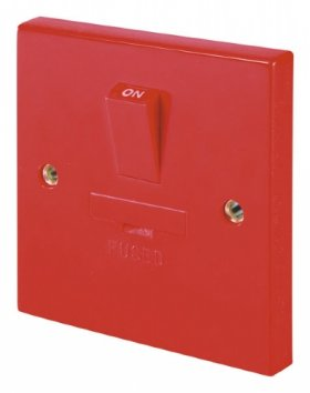 Click Red 3A Switched Fused Connection Unit DP (Spur) WA056RD