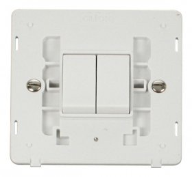 Click Definity 2 Gang 2 Way Switch Insert SIN012PW