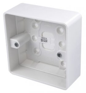 MK Logic Plus K2140WHI 1 Gang 30mm Surface Moulded Box