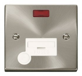 Click Deco Satin Chrome Unswitched Spur Neon + F/O VPSC053WH
