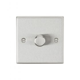 Knightsbridge Brushed Chrome 1G 2 Way Trailing Edge Dimmer