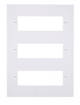 Click Polar White 18 Way Mini-Grid Plate PRW618 (Yokes Included)