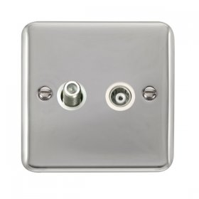Click Deco Plus Satellite and Coaxial Socket DPCH157WH